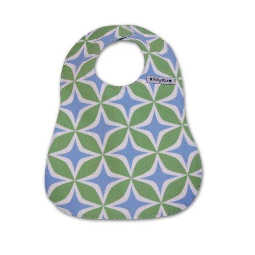 Baby Star Bib in Foursquare Blue