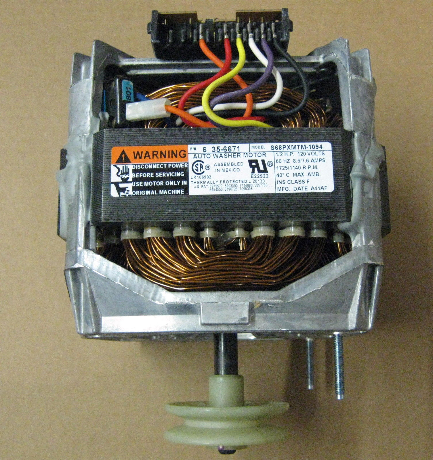 Wp21001950 Genuine Whirlpool Fsp Maytag Washer Washing Machine Motor Straight A Wiring 35 6671