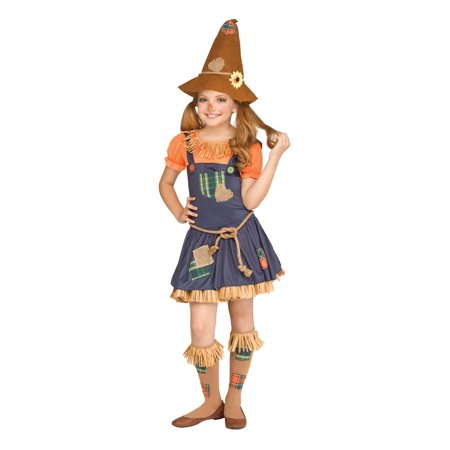 Halloween Girls Scarecrow Child Costume Size Small by Fun World