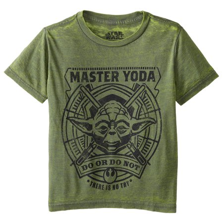 Star Wars Little Boys' Burnout Master Yoda Do Or Do Not T-Shirt](Childrens Star Wars Clothing)