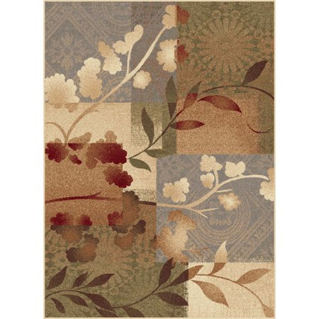 Tayse Rugs Impressions Blue Natural Collage Rug