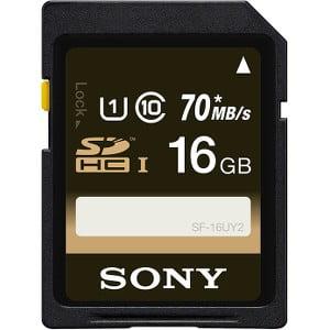 Sony SF16UY2/TQ 16 GB SDHC Memory Card - UHS-I ()