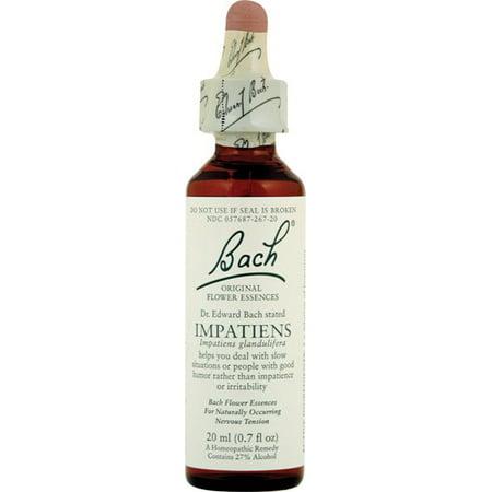 Bach Original Formulas Flower Remedies Drops, Impatiens, 0.7 Fl Oz ()