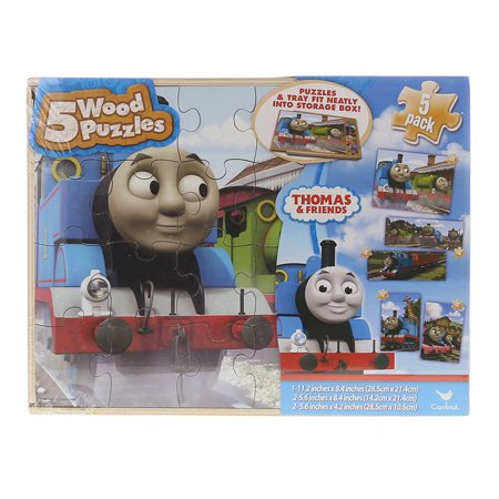 Friends Wood - Children's Wood Playset Thomas and Friends 5pc Puzzles