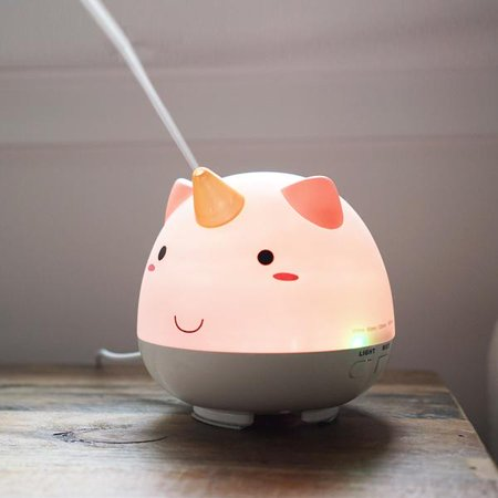 Electronic Auto Shut Off Timers - SMOKO Elodie Unicorn Humidifier | Diffuser for Essential Oils | Aromatherapy with Ambient Rainbow Lights | Auto Shutoff Timer
