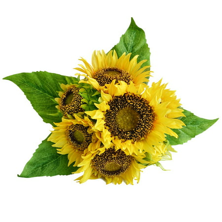 Artificial Silk Sunflower Decor 7 Stems Fake Flowers Floral for Home Wedding Decoration, Bride Holding Flowers,Garden Craft Art Decor