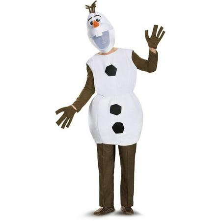 Frozen Deluxe Olaf Men's Adult Halloween Costume, - Olaf Frozen Costume Adults