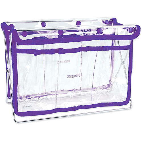 "Handy Caddy 8"" X 11"" X 5"" - Clear withPurple Trim"