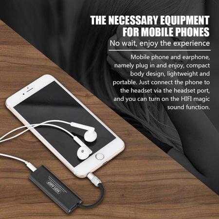 OTVIAP HIFI Portable Amplifier,Portable Stereo Amplifier,Black HIFI Portable 3.5mm Stereo Earphone Audio Amplifier AMP for Mobile Phone Portable Audio Video Cell Phone