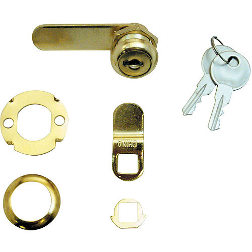"""Prime Line Products U9942 Brass Drawer and Cabinet Lock, 5/8"""""""