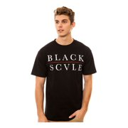 Black Scale Mens The Red Line Logo Type Graphic T-Shirt