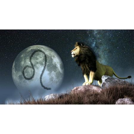 Leo Is The Fifth Astrological Sign Of The Zodiac Canvas Art   Daniel Eskridgestocktrek Images  19 X 11