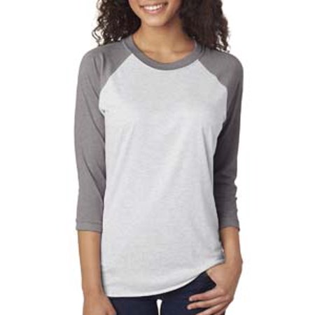 Next Level  Unisex Tri-Blend Raglan Sleeve Jersey T-Shirt (Colorblock Raglan Jersey Shirt)