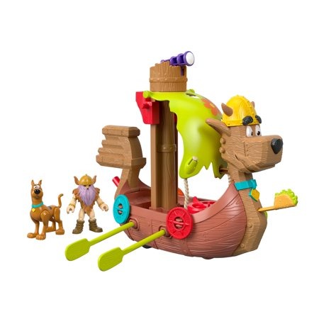 Imaginext Scooby-Doo Viking Ship with Themed Accessories Playset