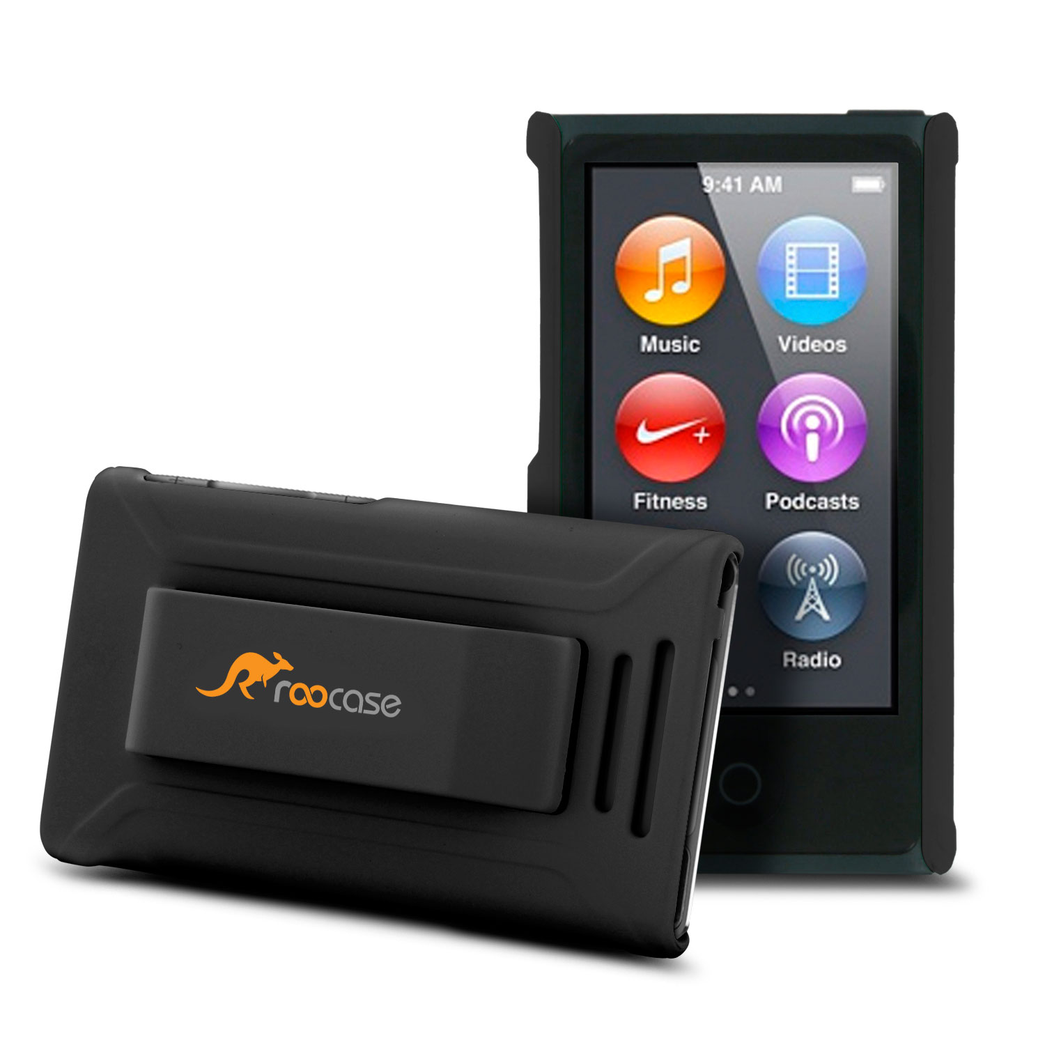 iPod Nano 7 Case - roocase Ultra Slim Fit (Black) Shell Case Cover for Apple iPod Nano 7 (7th Generation)