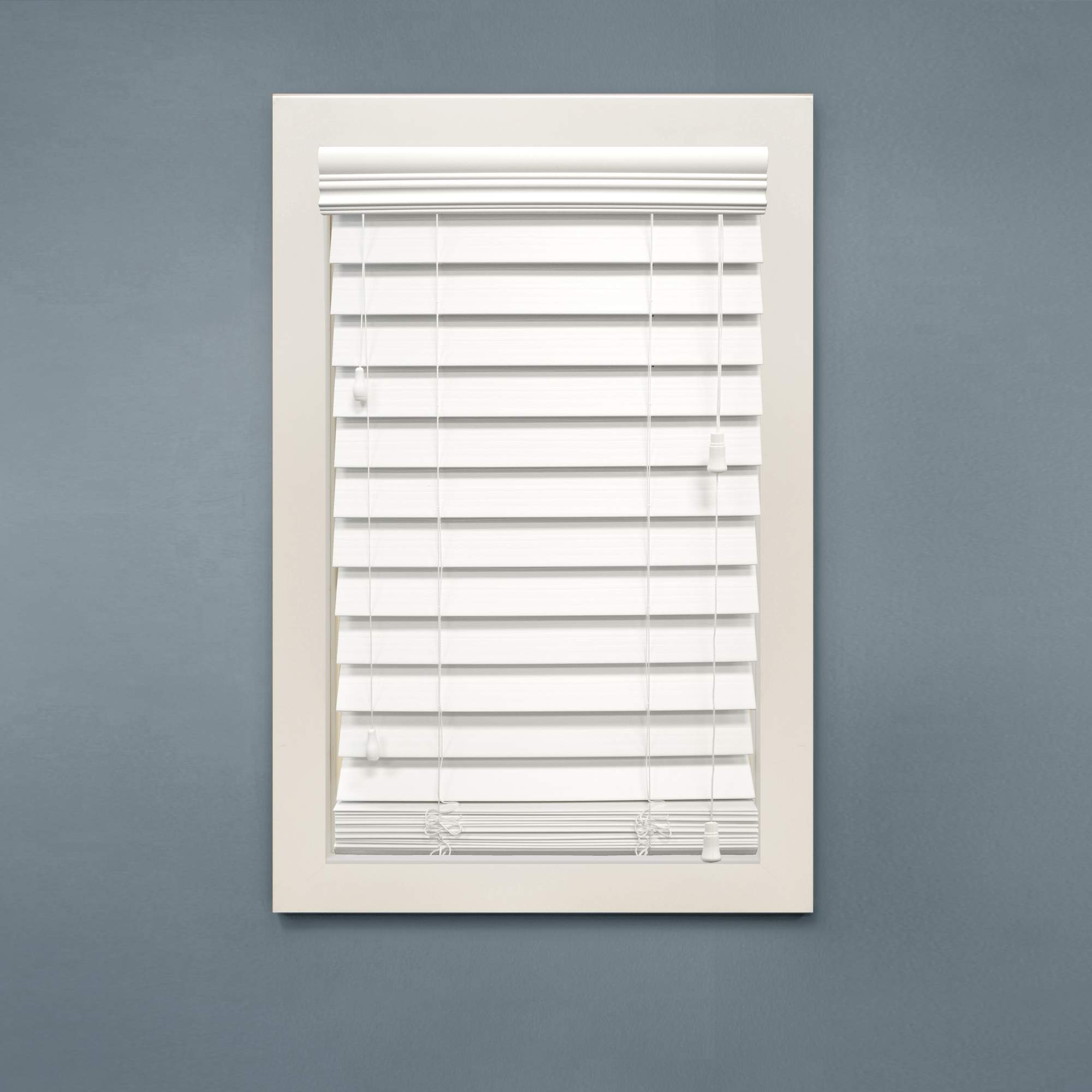 "Richfield Studios 2.5"" Faux Wood Blinds, White"