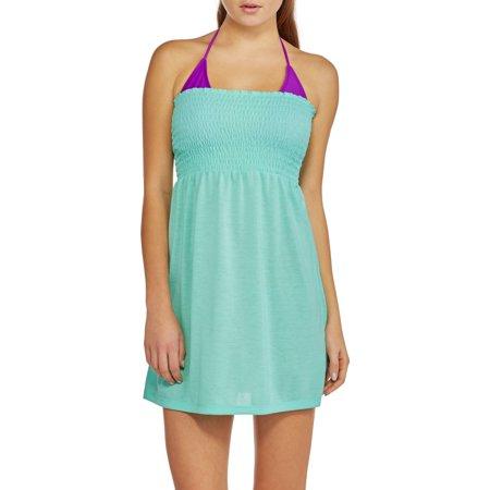 No Boundaries Juniors Smocked Dress Swim Cover-Up