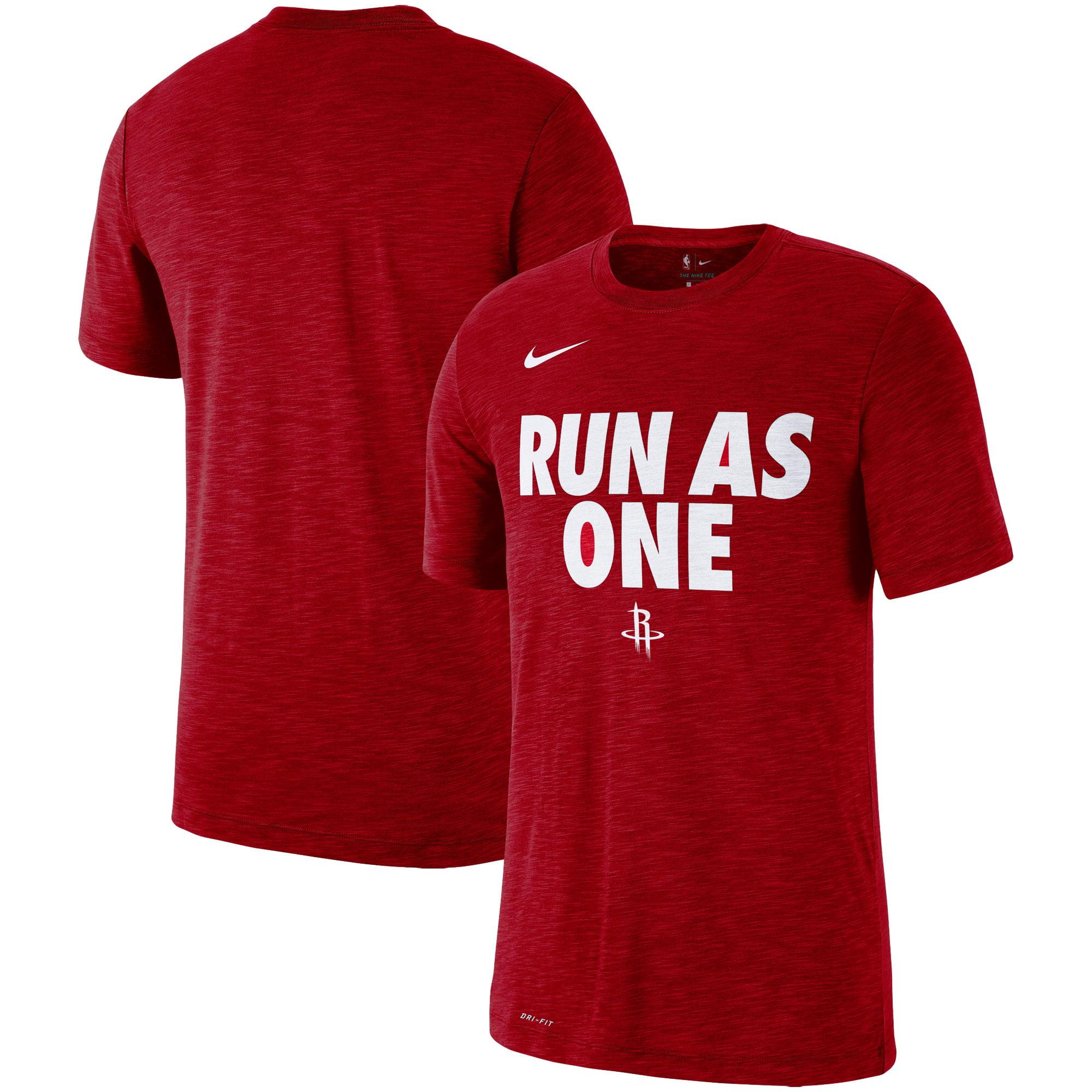 Houston Rockets Nike Essential Team Attitude Performance T-Shirt - Heathered Red