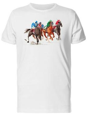 Three Horses Racing Tee Men's -Image by Shutterstock