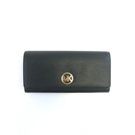 NEW WOMENS MICHAEL KORS JET SET FULTON FLAP CONTINENTAL LEATHER WALLET CLUTCH (Continental Clutch Wallet)