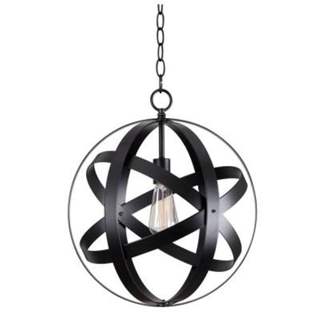 Kenroy Home 93551BLK Global 1 Light Pendant, Black