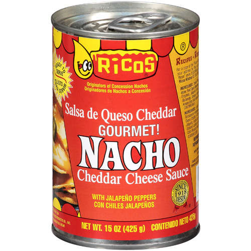 Ricos: With Jalapeno Peppers Nacho Cheddar Cheese Sauce, 15 Oz