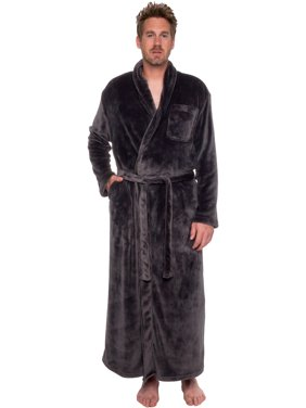 79e126d509 Product Image Ross Michaels Mens Full Floor Length Big and Tall Long Plush  Bath Robe