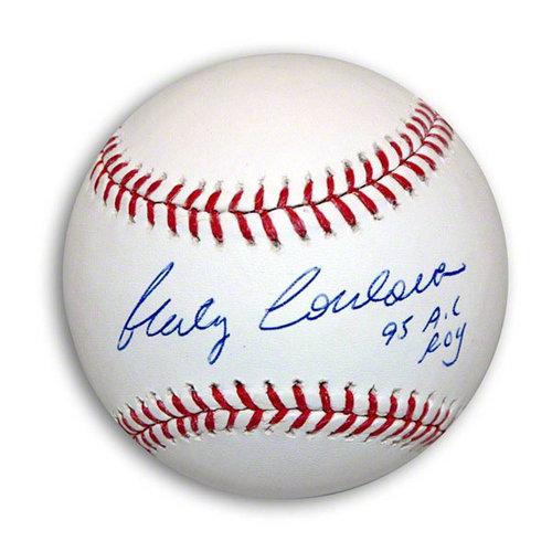MLB - Marty Cordova Autographed OML Baseball Inscribed 95 AL ROY