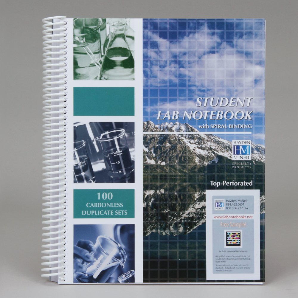 Carbonless Notebook, Chemistry, Spiral Bound, 100 Sheets ...