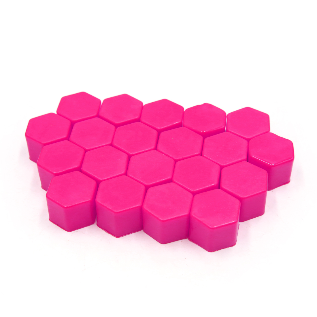 20 Pcs 17 x 19mm Pink Luminous Car Wheel Tyre Hub Screw Bolt Nut Cap Covers