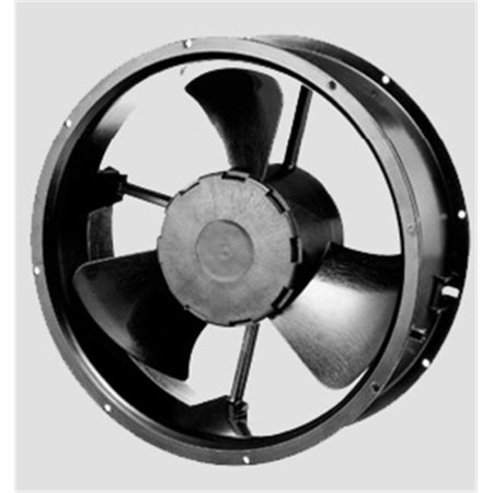 EZ Fan FP-108HH-120-220VS1SB 254 x 89 mm AC Axial Fan - Die Cast Alluminum Painted (Black Black Painted Cast)