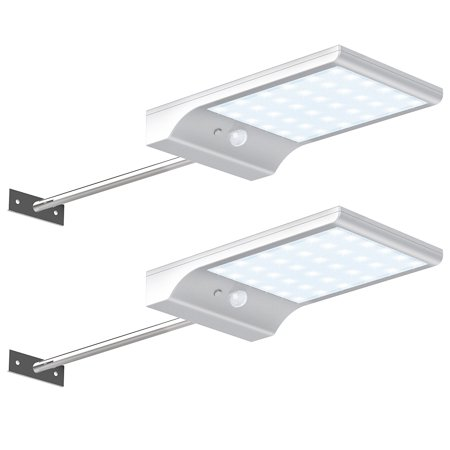 2pcs Solar Pathway Lights 36 Led Solar Motion Sensor