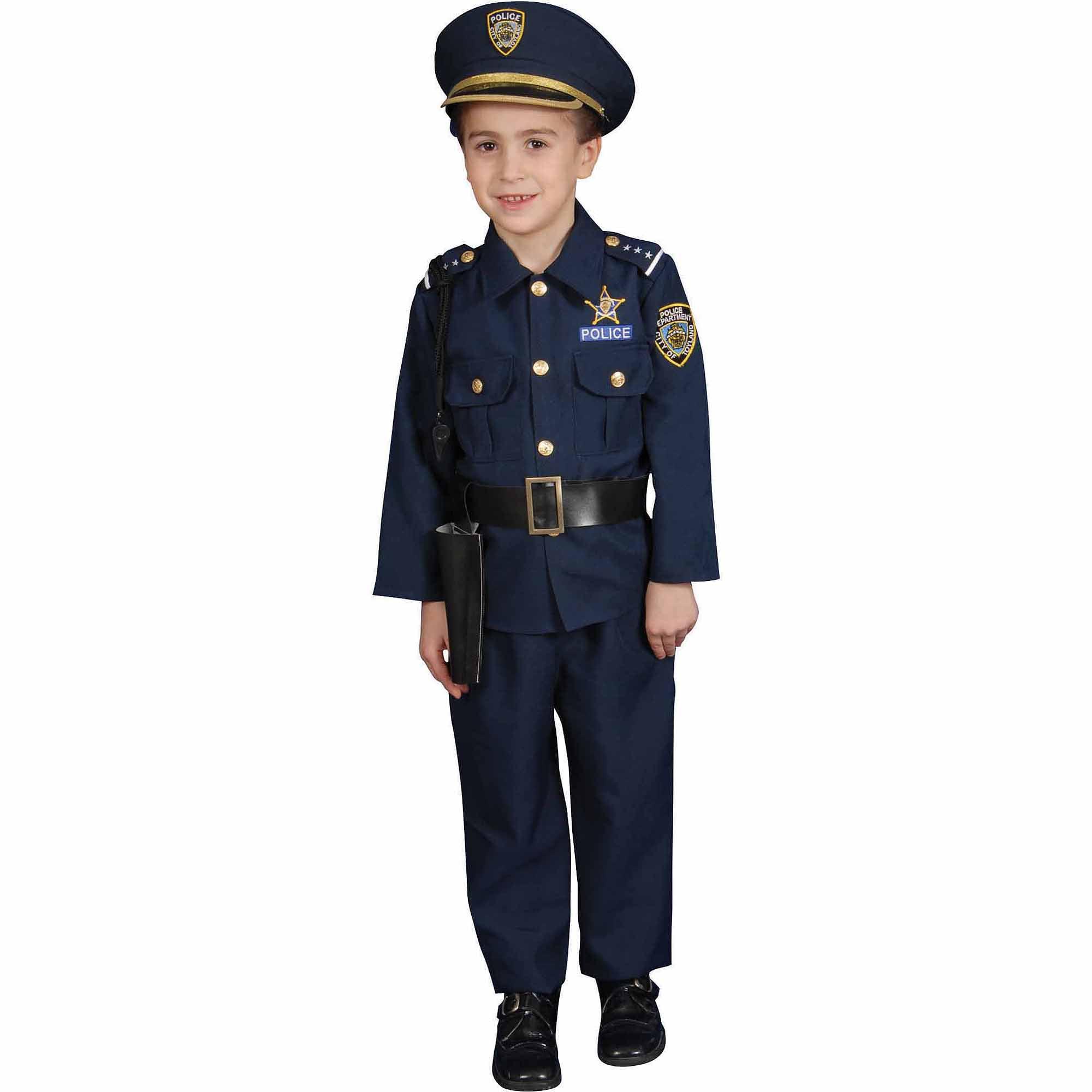 Melissa & Doug Police Officer Role Play Costume Dress-Up Set (8 pcs ...