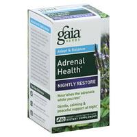 Gaia Herbs - Adrenal Health Nightly Restore - 60 Vegan Caps