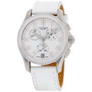 Victorinox Women's Chrono Classic' Swiss Quartz Stainless Steel and Leather Casual Watch, Color:White (Model: 241500)
