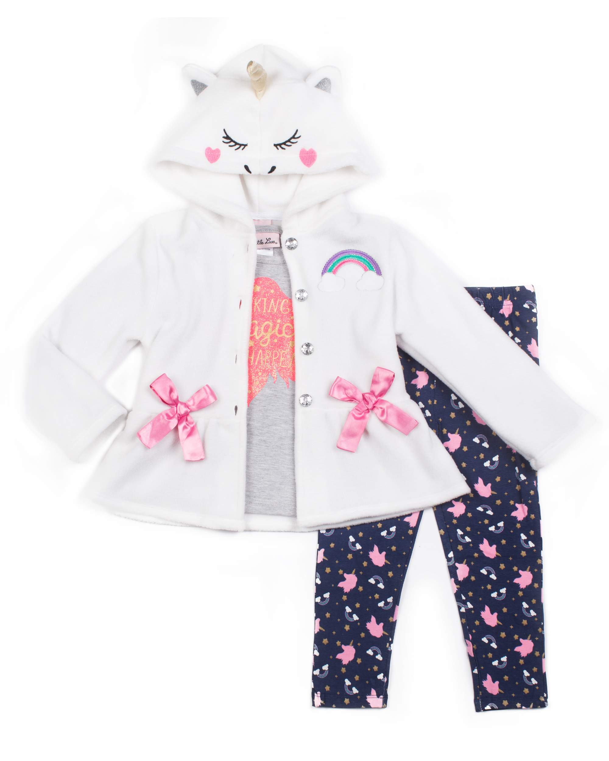 793820169aff Little Lass Polar Fleece Critter Jacket