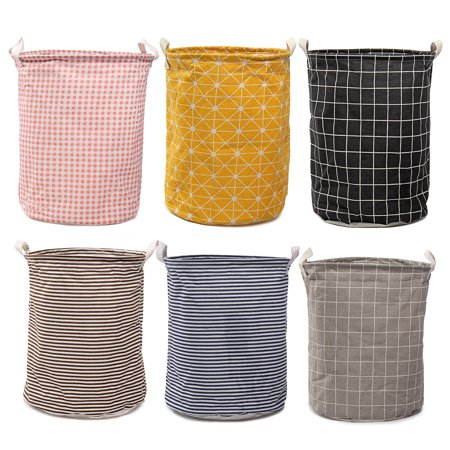 Cotton Linen Foldable Washing Dirty Clothes Laundry Basket Hamper Canvas Toy Storage Organizer Bag Home Household 13.78 x 17.72'' - Canvas Laundry Tote