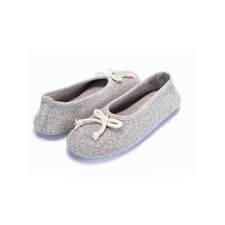 Women's Ballerina Slipper Memory Foam House Shoes Comfort Knitted Soft Sole Indoor Shoes