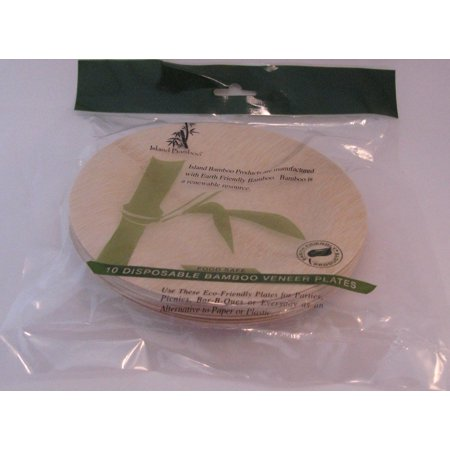 Disposable 9 inch Bamboo Plate Island Bamboo 10