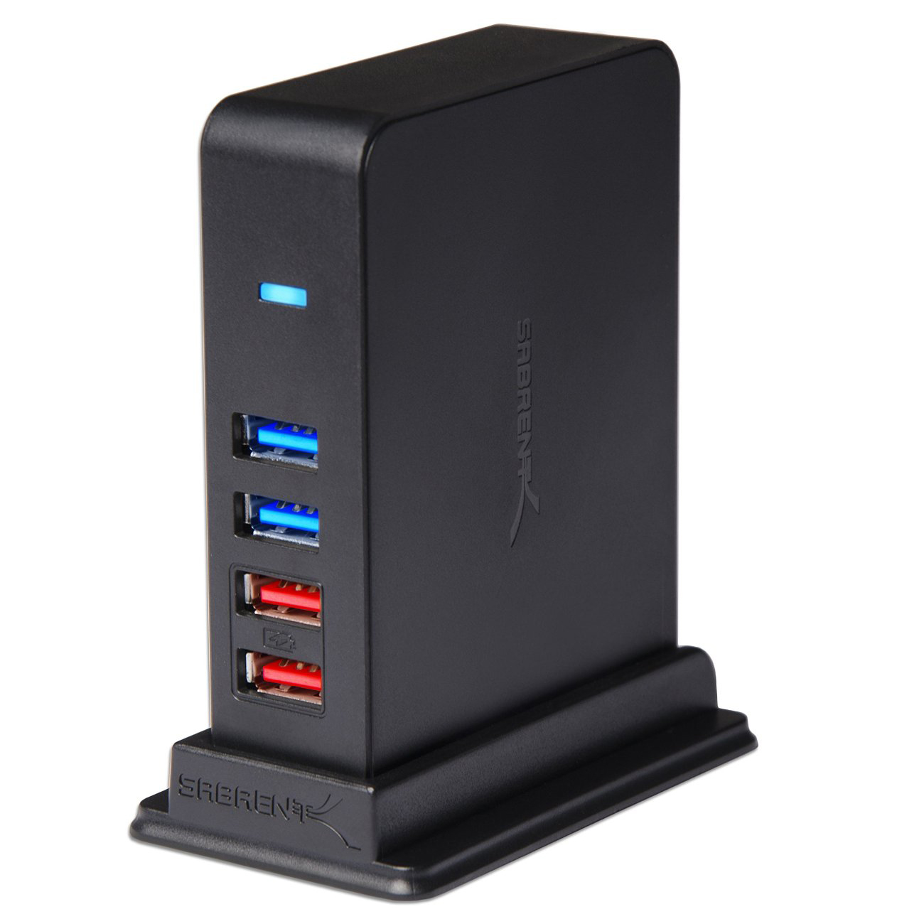 Sab 7 Port Usb 2 0 Hub Charging Ports W 12v 4a Power Adapter Hb U930 Com