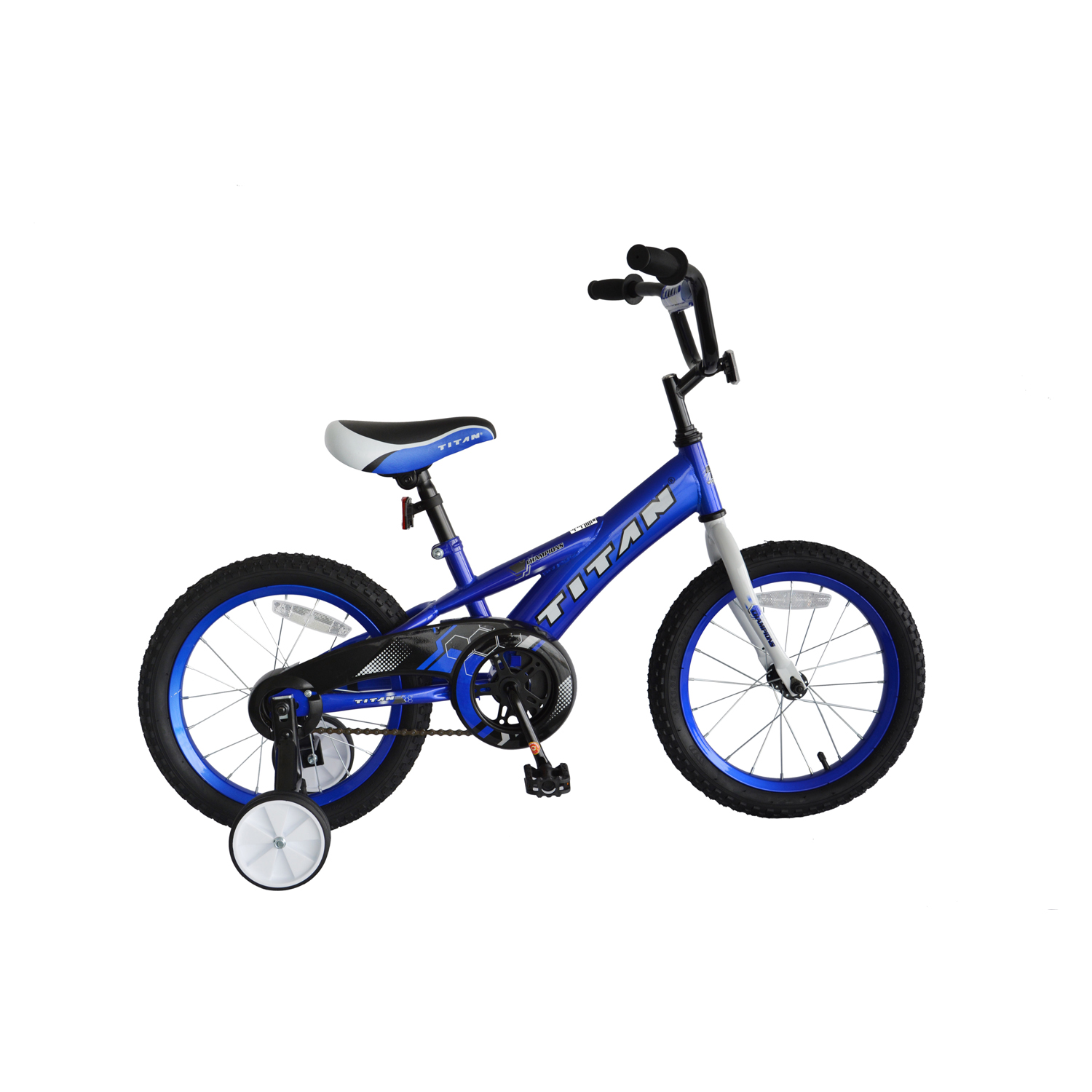 TITAN Champion Boys BMX Bike with Training Wheels, 16-Inch, Blue by Titan