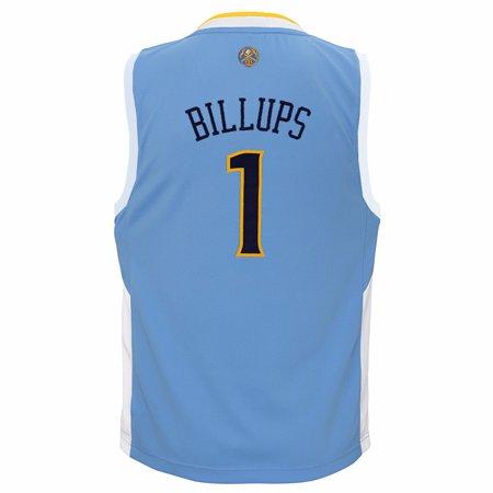 Authentic Nba Basketball Jersey - Chauncey Billups Denver Nuggets NBA Adidas Boys Light Blue Official Road Replica Basketball Jersey