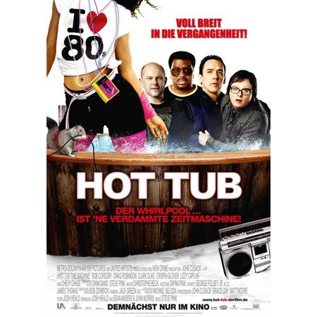 hot tub time machine 2010 11x17 movie poster german. Black Bedroom Furniture Sets. Home Design Ideas