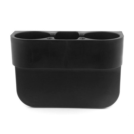 Durable Plastic  Wedge Mount Dual Car Cup Holder for Drink Beverage Black