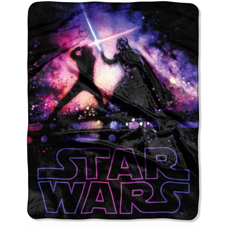 """star wars """"impressive"""" 40"""" x 50"""" silk touch throw - walmart"""