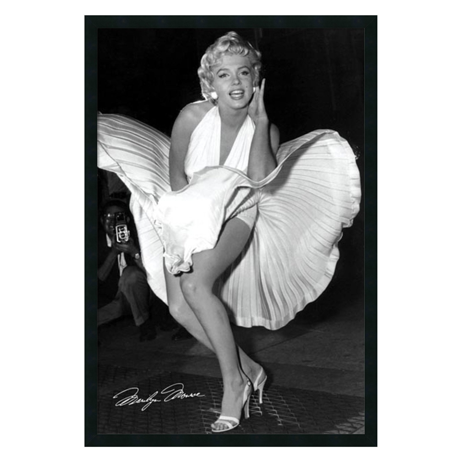 Marilyn in New York, 1954 Framed Wall Art by Matthew Zimmerman - 25.41W x 37.41H in.