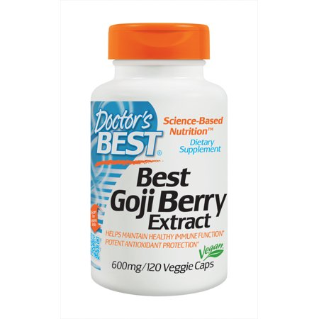 Doctor's Best Goji Berry Extract, Non-GMO, Vegan, Gluten Free, 120 Veggie (Best Hawthorn Berry Extract)