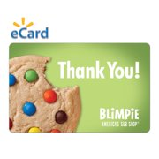 Blimpie $15 Thank You Cookie Gift Card (Email Delivery)