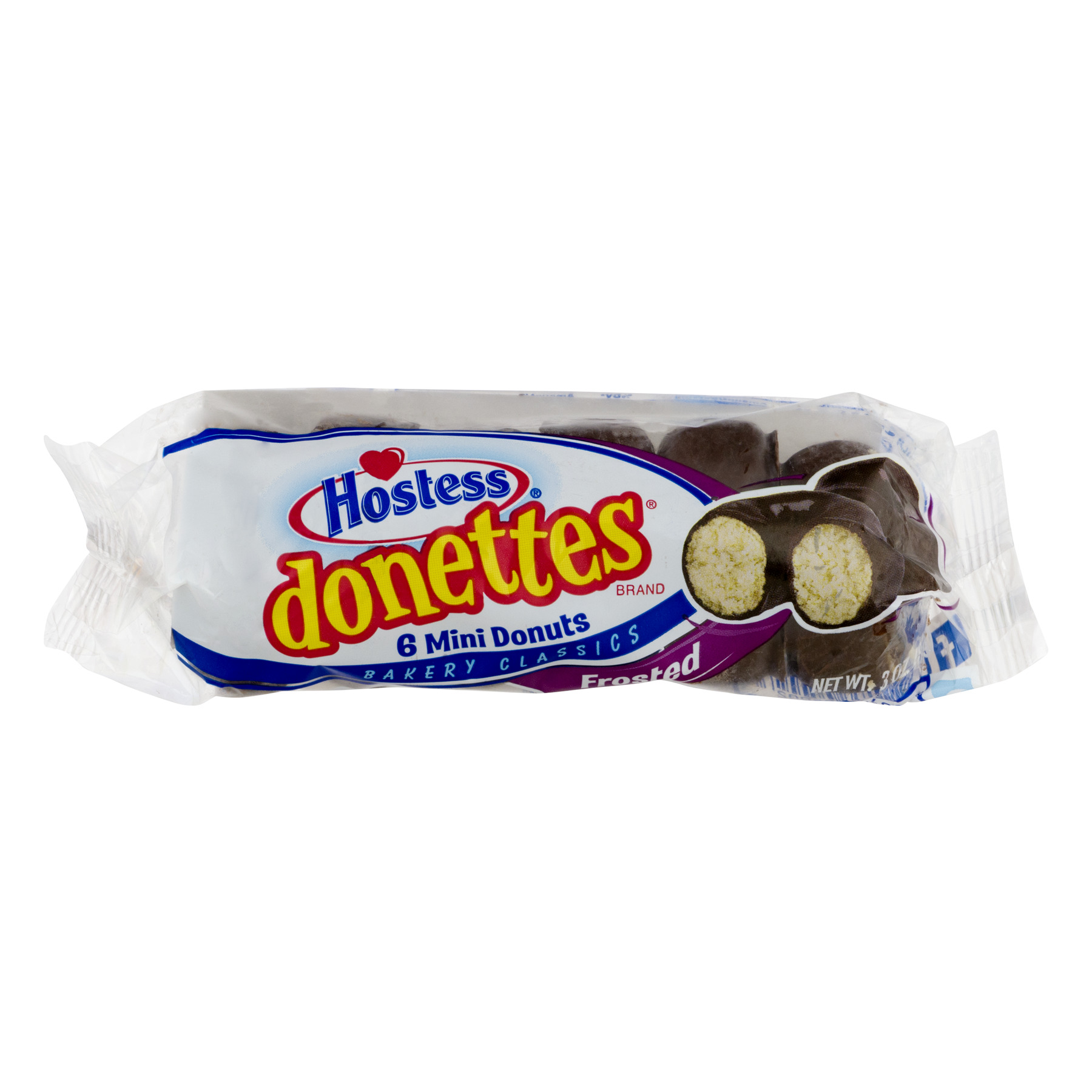 Hostess® Donettes Frosted Mini Donuts, 3.0 oz Package (6 Count)