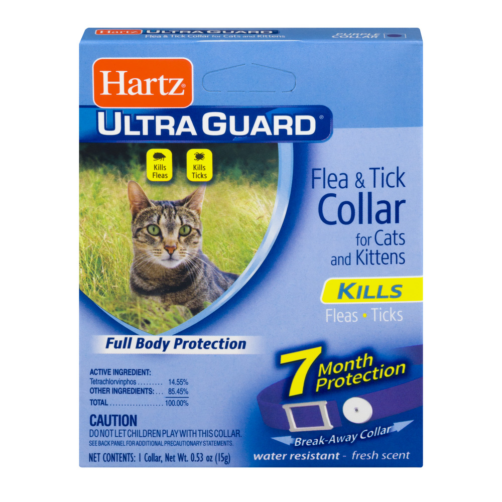 Hartz UltraGuard Flea & Tick Collar for Cats & Kittens, 7 Month Protection